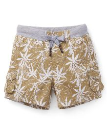 Spark Shorts With Drawstrings - Brown