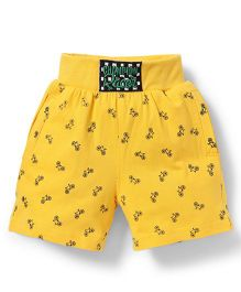 Spark Shorts Printed - Golden Yellow