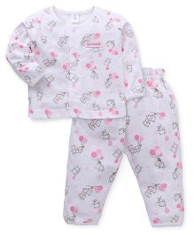ToffyHouse Full Sleeves Night Suit Printed 36M