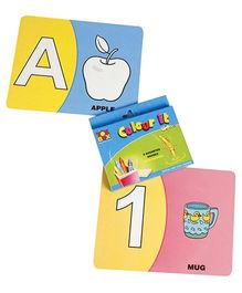 Toysbox Colour It Wipe It Alphabet & Numbers - Multi Color