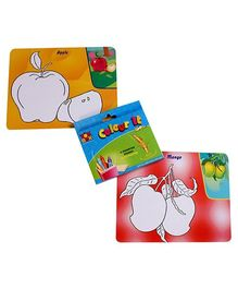 Toysbox Colour It Wipe It Fruits and Vegetables