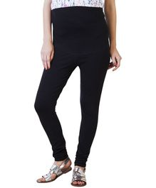 Blush 9 Bodycon Fit Maternity Leggings - Black