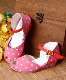 D'chica Polka Dot Peep Toes - Light Pink