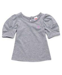 Babyhug Puff Sleeves Top - Grey