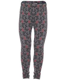 Earth Conscious Leggings Butterfly Print - Grey Black