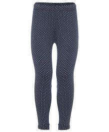 Earth Conscious Leggings Dots Print - Black