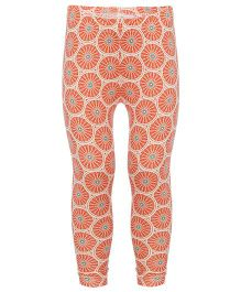 Earth Conscious Printed Leggings - Dark Peach