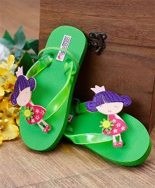 D'Chica Little Doll Flip Flops - Green