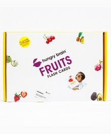 Hungry Brain Fruits Flash Cards - Blue