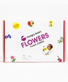 Hungry Brain Flowers Flash Cards - Blue