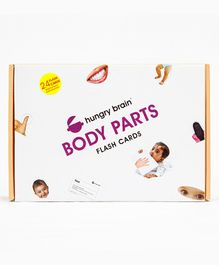 Hungry Brain Body Parts Flash Cards - Blue