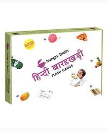 Hungry Brain Hindi Barakhadi Flash Cards - Blue