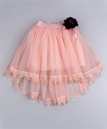 Aww Hunnie High Low Hem Frill Skirt - Off White