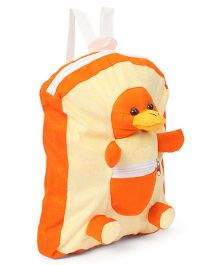 IR Duck Plush School Bag Cream Orange - 12 Inches