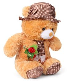 Tickles Cap Teddy With Rose Brown - 68 cm