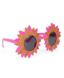 B Vishal Flower Shape Party Eye Goggles - Pink