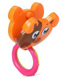 Sunny Shaking Bell Zodiac Rattle Puppy Design - Orange