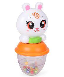 Sunny Shaking Bell Zodiac Rattle Rabbit Design - White