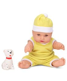 Speedage Cute Baby Doll With Pet Yellow - 21 cm