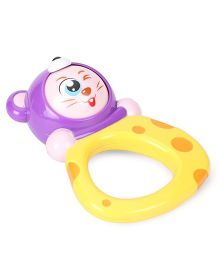 Sunny Shaking Bell Zodiac Rattle Mouse Design - Purple