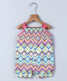 Beebay Singlet Tribal Print Romper - Turquoise Pink