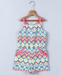 Beebay Singlet Tribal Print Jumpsuit - Turquoise Pink