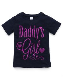 Playbeez Daddy's Girl Glitter Tee - Blue