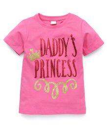 Playbeez Daddy's Princess Glitter Tee - Pink