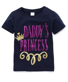 Playbeez Daddy's Princess Glitter Tee - Blue
