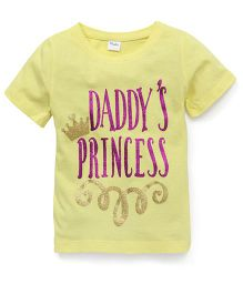 Playbeez Daddy's Princess Glitter Tee - Yellow