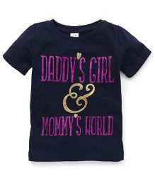 Playbeez Daddy's Girl & Mommy's World Glitter Tee - Blue