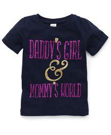 Playbeez Daddy's Girl & Mommy's World Glitter Tee - Blue