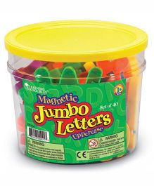 Learning Resources Jumbo Magnetic Uppercase Letters - 40 Pieces