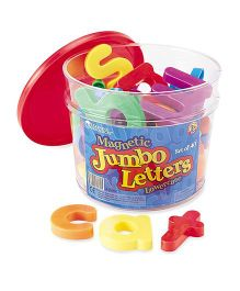 Learning Resources Jumbo Magnetic Lowercase Letters - 40 Pieces