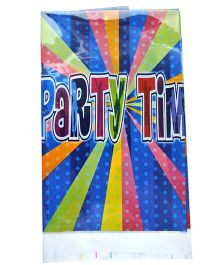 Shopaparty 1 Piece Disco Party Table Cover - Blue