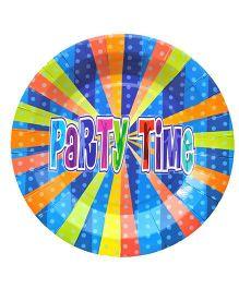 Shopaparty 10 Pieces Disco Party Paper Plates - Blue