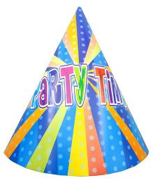 Shopaparty 10 Pieces Disco Party Paper Hats - Blue