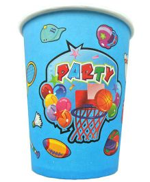 Shopaparty 10 Pieces Sports Theme Paper Cups - Blue