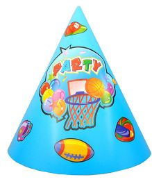 Shopaparty 10 Pieces Sports Theme Paper Hats - Blue