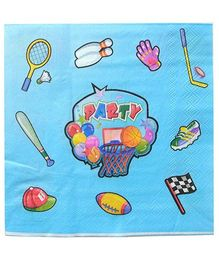Shopaparty 2 Pieces Sports Theme Paper Napkins - Blue