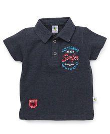 Cucumber Half Sleeves T-Shirt Surfer Print - Grey