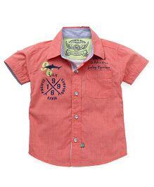 Little Kangaroos Half Sleeves Shirt Solid Color - Peach