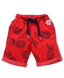 Little Kangaroos Shorts Pineapple Print - Red