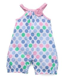 Little Kangaroos Singlet Jumpsuit Polka Dots Print - Pink Blue