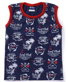 Little Kangaroos Sleeveless T-Shirt Printed - Navy Red