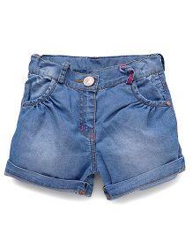 Little Kangaroos Denim Shorts - Light Blue