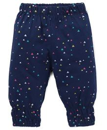 Little Kangaroos Printed Leggings - Navy Blue