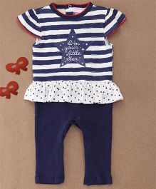 Lovenda Fortura Girls Sleepsuit Without Feet - Navy - 9 M
