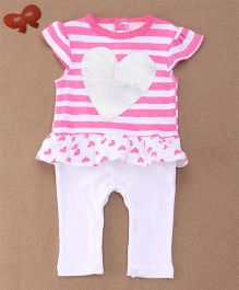 Lovenda Fortura Girls Sleepsuit Without Feet - Pink