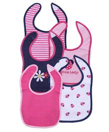 Luvable Friends Printed 5Pk Bib - Pink